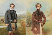 St. Vincent Keane Hawkins-Whitshed and his son St. Vincent Bentinck Hawkins-Whitshed. | From website https : //www.invaluable.com/auction-lot/after-frederick-cruickshank-british-1800-1868-t-586-c-3f2406ea37