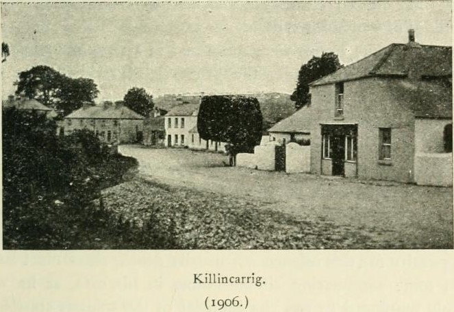 Killincarrig - once a separate village, now swallowed up by a sprawling Greystones    The neighbourhood of Dublin, Its topography, antiquities and historical associations, Weston St. John Joyce, W. H. Gill & Son, Dublin, 1921, page 95.
