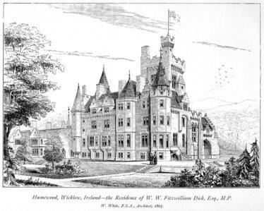 Humewood Castle, Kiltegan | Wickipedia Commons - https://en.m.wikipedia.org/wiki/File:Humewood_Castle,_Kiltegan.jpg