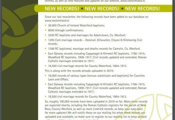 Irish Genealogy Matters Newsletters