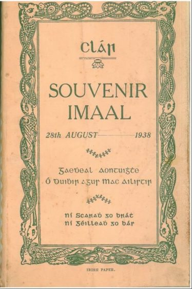 Introduction to the Wicklow Library Service Local Studies Collection | 1938 Souvenir Programme of Glen of Imaal commemorative 1798 celebrations. Held in Wicklow Library Service local studies collection.