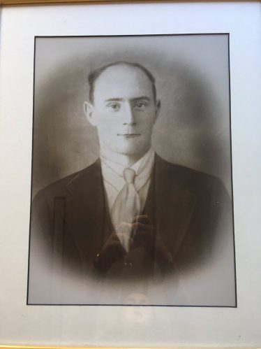 Christopher (Christy) Timmins, Baltinglass businessman and footballer, died of flu 10th November 1918, aged 29.   Courtesy of Billy Timmins