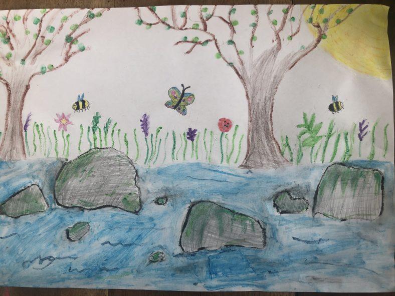Mia's river walk drawing   Mia Ryan
