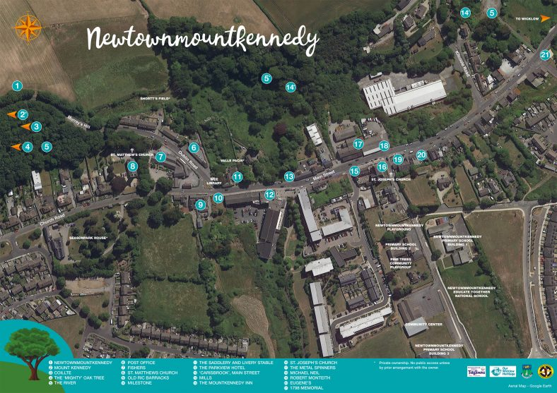 Newtownmountkennedy  - New Map and Heritage Guide | 2 of 2 Newtownmountkennedy Main Street Heritage Information Map
