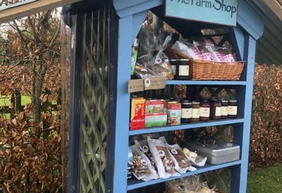 Becky Allen - when the Farm Shop opened its Honesty Shop