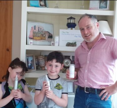 Cathal with Aibhain and Conan