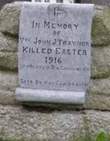 Memorial of John Traynor died 1916, who is buried in Glasnevin Cemetery, Dublin.  | Photo: Maura Gibson