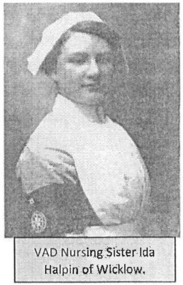 Nurse Ida Halpin, Voluntary Aid Division (VAD), Wicklow   Photo: Brendan Flynn