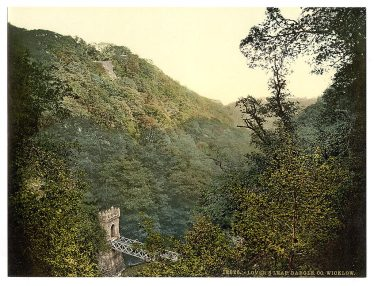 Lover's Leap, Dargle Valley, Enniskerry Co. Wicklow. Image courtesy of The Library of Congress.