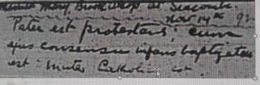 Baptismal record. | Bray Church Register.