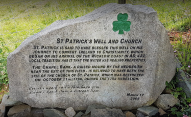 Fig. 4   Stone documenting the history of St Patrick's Well, Kilbride, Co. Wicklow. | Google maps