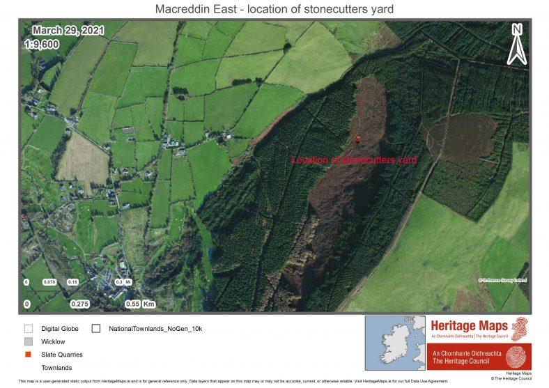 Location of ruins in Macreddin East