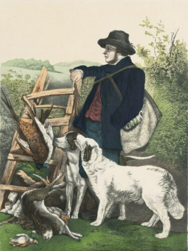 Gamekeeper. | Old French postcard.