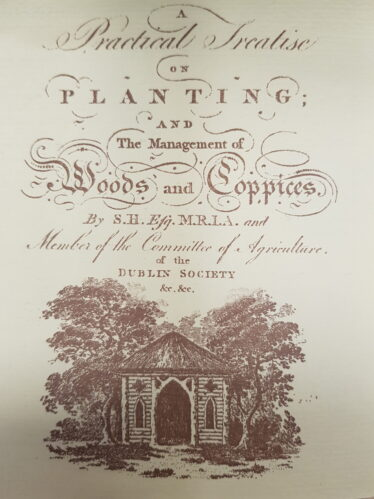 Cover page of Samuel Hayes' A Practical Treatise on Planting and the management of trees and coppices (1794) | Courtesy of Wicklow Library Service Local Studies Collections