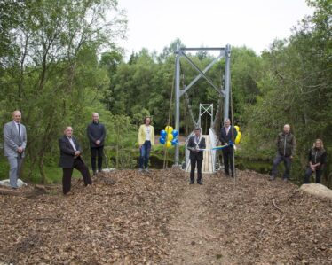 Official opening of Samuel Hayes Bridge, Avonmore River, Rathdrum on 16th June 2021 by Wicklow County Council Cathaoirleach, Councillor Pat Kennedy. | Image courtesy of Wicklow County Council
