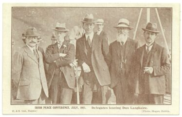 Delegates leaving Dun Laoghaire, July 1921 (Barton Collection, WLAA/PP1) | Wicklow County Archives