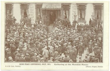 Gathering at the Mansion House (1), July 1921 (Barton Collection, WLAA/PP1) | Wicklow County Archives
