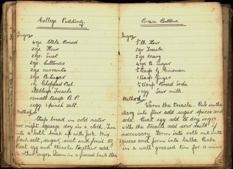 College Pudding and Brown Buttons Recipes   Wicklow Co. Co.