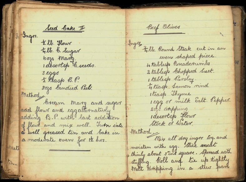 Seed Cake and Beef Olive Recipes   Wicklow Co. Co.