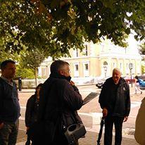 Brian White on the Bray Historical Walking Tour   D. Burns
