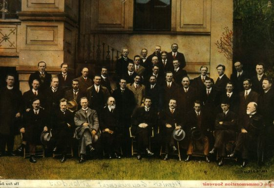 Photo Postcard of Members of the First Dáil