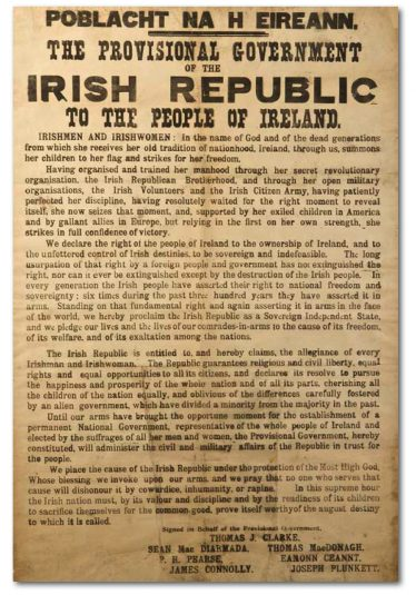 The 1916 Proclamation: Then & Now