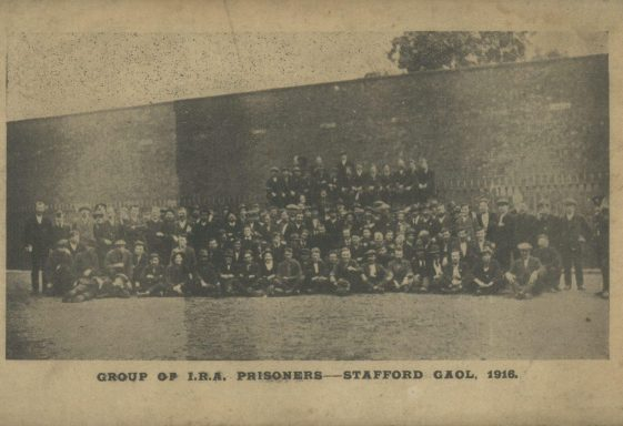 Group Photograph of  I.R.A. Prisoners at Stafford Gaol, 1916