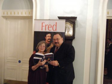 Rosemary Raughter, chair of Greystones Historical Society, with editor John Hawkins at the launch of Fred: the collected letters and speeches of Colonel Frederick Gustavus Burnaby
