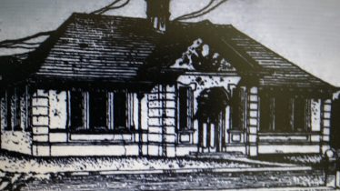 Architect's sketch of Greystones Library | Wicklow Newsletter, 29 February 1908