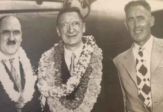 Photograph of Frank Aiken, Eamon de Valera and Kevin Boland