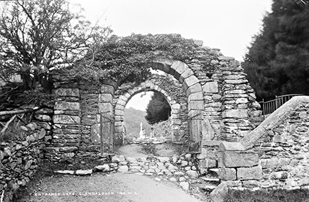 Entrance Gate, Glendalough   National Library of Ireland