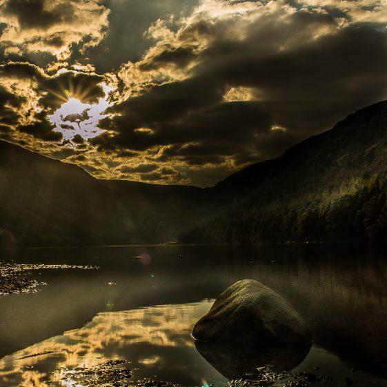 April Evening Light on Glendalough Upper Lake   Brian Kahill