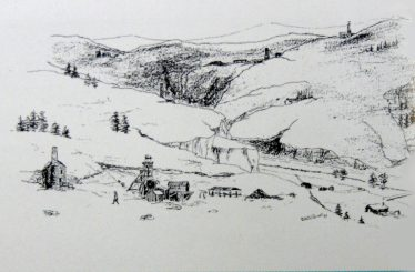 Ballymurtagh Avoca Valley mid 1860's - Artist: Robert J Tyrrell | Geological Survey of Ireland 1998