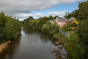 Avoca village sits beside the river of the same name