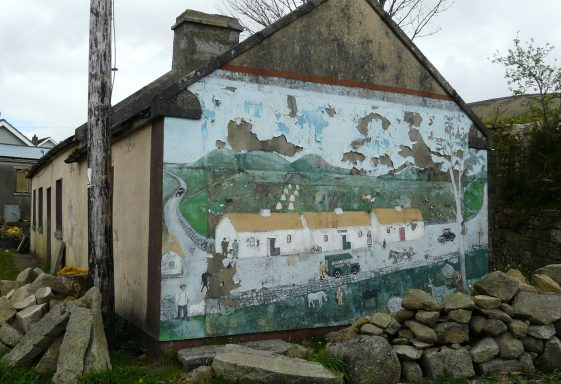 Interesting Wall Mural at Ballyknocken
