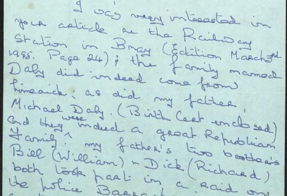 Jean Holt Correspondence