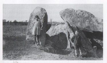 The Castletimon dolmen , picture c. 1930