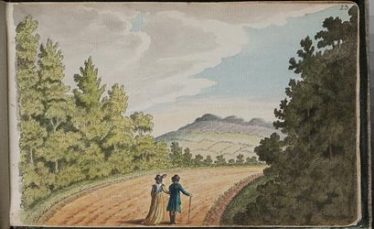 A view of Bray Head (Gabriel Beranger) | RIA Antiquarian Drawings Collection