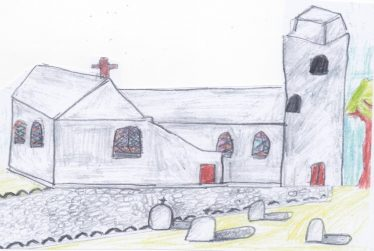 Dunganstown Church   By The Pupils Of Brittas Bay School 2014