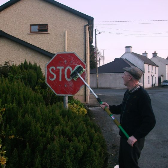 Putting a brush to the stop   Rathdangan Community Council