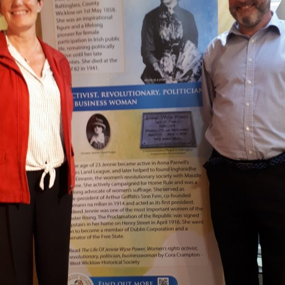 Cora Crampton and Paul Gorry from the West Wicklow Historical Society