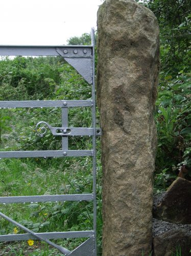 Traditional Forged Gate with Granite Pillar   PURE Mile