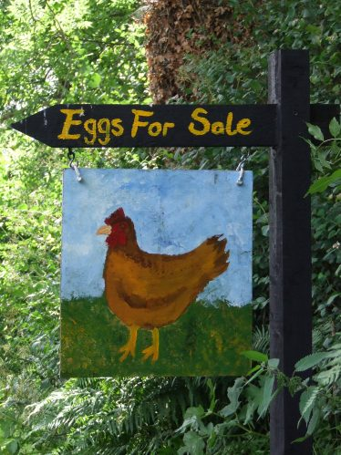 Hen Painted Sign   PURE Mile
