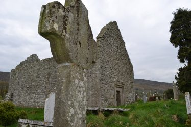 Aghowle Church from South West showing early celtic cross | D. Burns