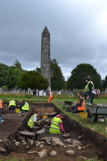 Community Excavation in Glendalough Aug 2016   D. Burns