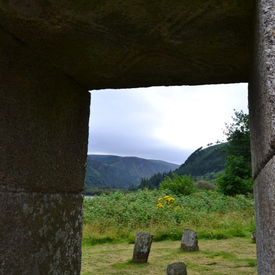 View from the doorway of St. Mary's Church , Glendalough   D. Burns