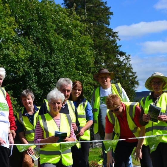 The Volunteer Graveyard Survey team in Glendalough   D. Burns