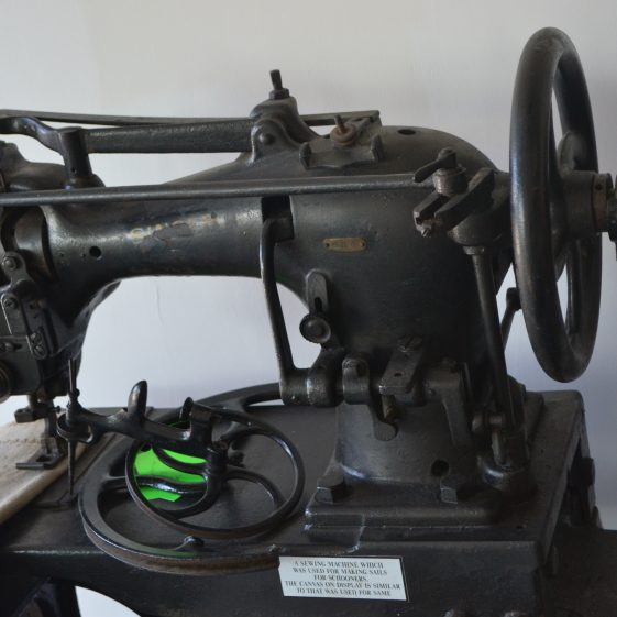 Sewing Machine used to repair heavy canvas at the Arklow Maritime Museum   D. Burns