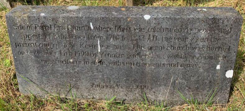 Dedication stone erected in Jubilee year 2000 | Photo by Ciarán J. O'Byrne