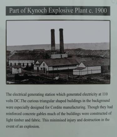 Electricity Generating Station at Kynoch's | Pat Power - Kynoch Walk Information Board